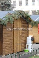 дървен павилион за продажба  до 4кв.м