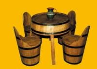 Дизайнерска маса и столове от бурета